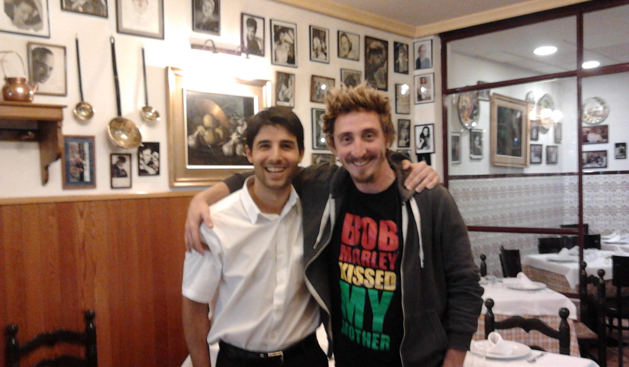 Con el grandísimo actor Iván Massague